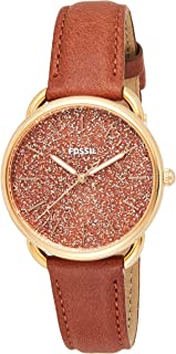 Fossil Women's 'Tailor' Quartz Stainless Steel and Leather Casual Watch, Analog Display