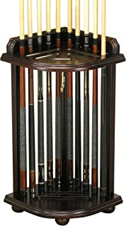 Fairview Game Rooms Corner-Style Pool Cue and Ball Stand