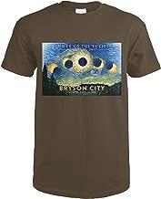 Bryson City, North Carolina - Starry Night - Summer of the Eclipse 82884 (Dark Chocolate T-Shirt Medium)