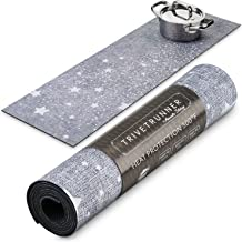 Trivetrunner :Decorative Trivet and Kitchen Table Runners Handles Heat Up to 300F, Anti Slip for Hot Dishes and Pots, Protect Furniture Countertops,Dressers and Island Protector (Grey trail Stars)