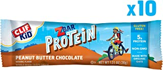 Clif Kid ZBAR - Protein Snack Bar - Peanut Butter Chocolate Flavor (1.27 Ounce Gluten Free Bar, 10 Count)