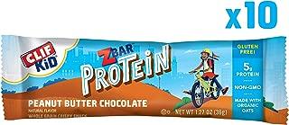 Clif Kid ZBAR - Protein Snack Bar - Peanut Butter Chocolate Flavor (1.27 Ounce Gluten Free Bar, 10 Count)