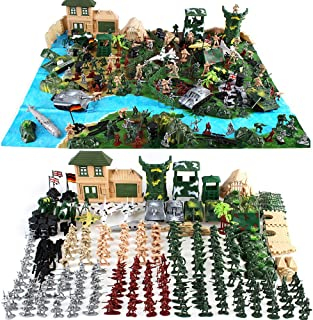 Cp-Tree Huge Simulated Battlefield Play 300 Piece Military Base Set Suit Military Play-Set