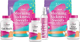 Pink Stork Premier Bundle: Pregnancy Bundle with 6 Products, Morning Sickness Relief + Prenatal Vitamins + Magnesium Mist, Women-Owned
