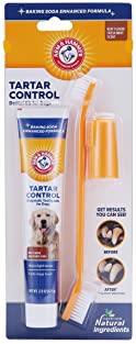Arm & Hammer for Pets Tartar Control Kit for Dogs-Contains Toothpaste, Toothbrush & Fingerbrush-Reduces Plaque & Tart...