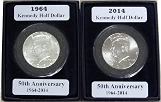 1964-2014 Kennedy Half Dollar 2 Coin Anniversary Set Uncirculated