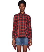 Neil Barrett - Fall Away Back Tartan Shirt