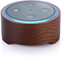 Piqiu Echo Dot Protective Cover Jam Classic Speaker Base Alexa Amazon Second Generation Echo Dot Audio Shell Uses Natural Solid Wood Support for Kitchen and Room Decoration