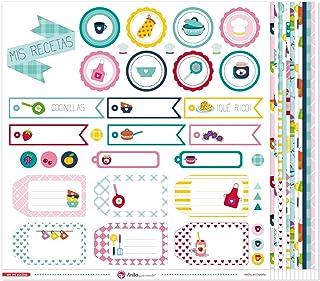 Anita y Su Mundo Collection Dans Ma Cuisine Papiers de Scrapbooking, Papier, multicolore, 30,5 x 30,5 cm