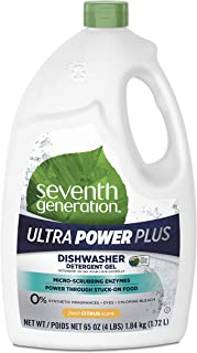 Seventh Generation Ultra Power Plus Dishwasher Detergent Gel, Fresh Citrus Scent, 65 oz