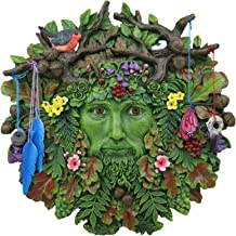 Ebros Brigid Ashwood Colorful Nature Spirit God Celtic Greenman Hanging Wall Decor Plaque 12