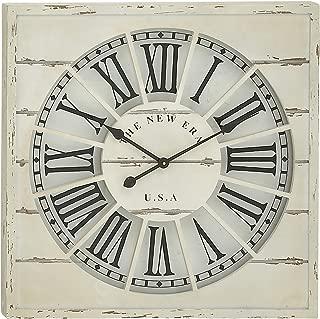 Woodland Imports Spectacular Wood Wall Clock, 27