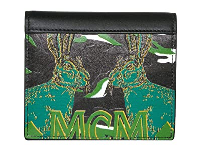 MCM Pop Rabbit Flap Wallet/Two-Fold Mini (Black) Handbags