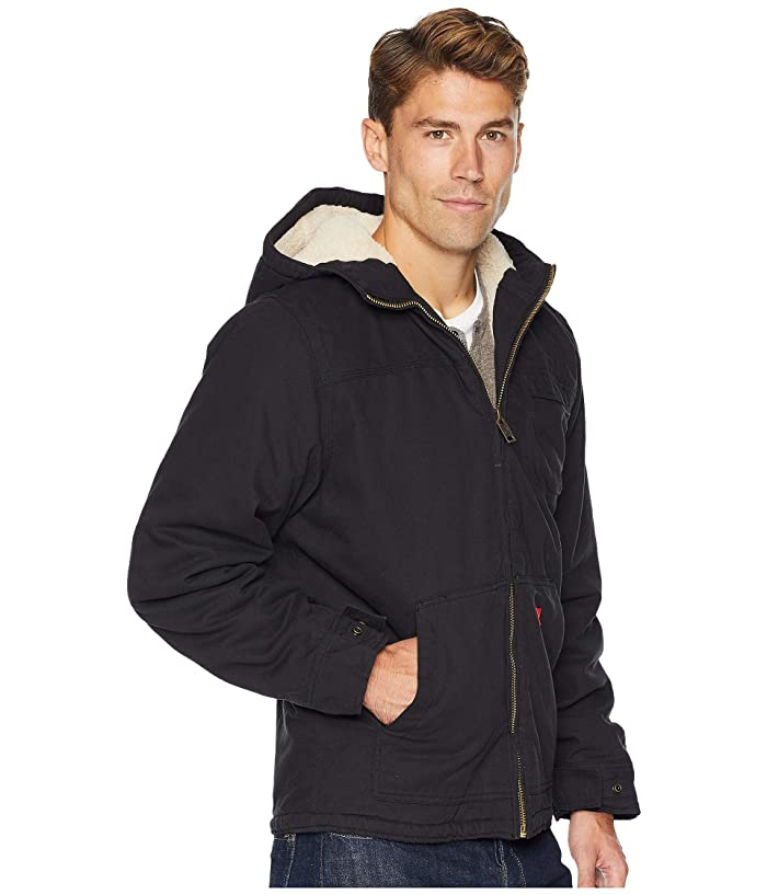 Dickies Sanded Duck Sherpa Lined Hooded Jacket at Zappos.com