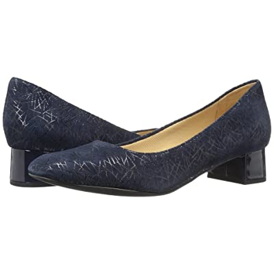 Trotters Lola (Navy Graphic Embossed Leather) Women