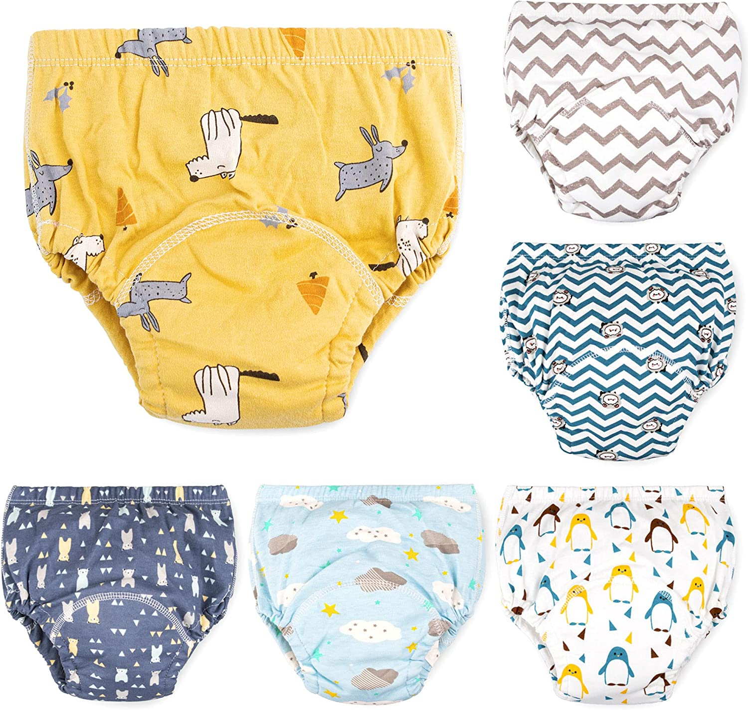 6 Pack Potty Training Pants for Boys,Max Shape Potty Training Underwear for Boys 2T,3T,4T