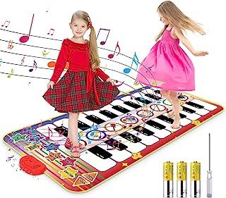 RenFox Kids Musical Piano Mat - Duet Keyboard Play Mat 20 Ke