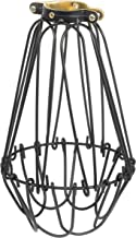 Rustic State Industrial Vintage Style Metal Wire Light Cage Guard For DIY Lighting Fixtures - Adjustable Cage Openings To Different Styles (Black)