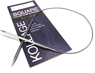 Kollage Yarns Square Circular 40 inch (101cm) Knitting Needle Firm Cable Size US 1.5 (2.5mm)