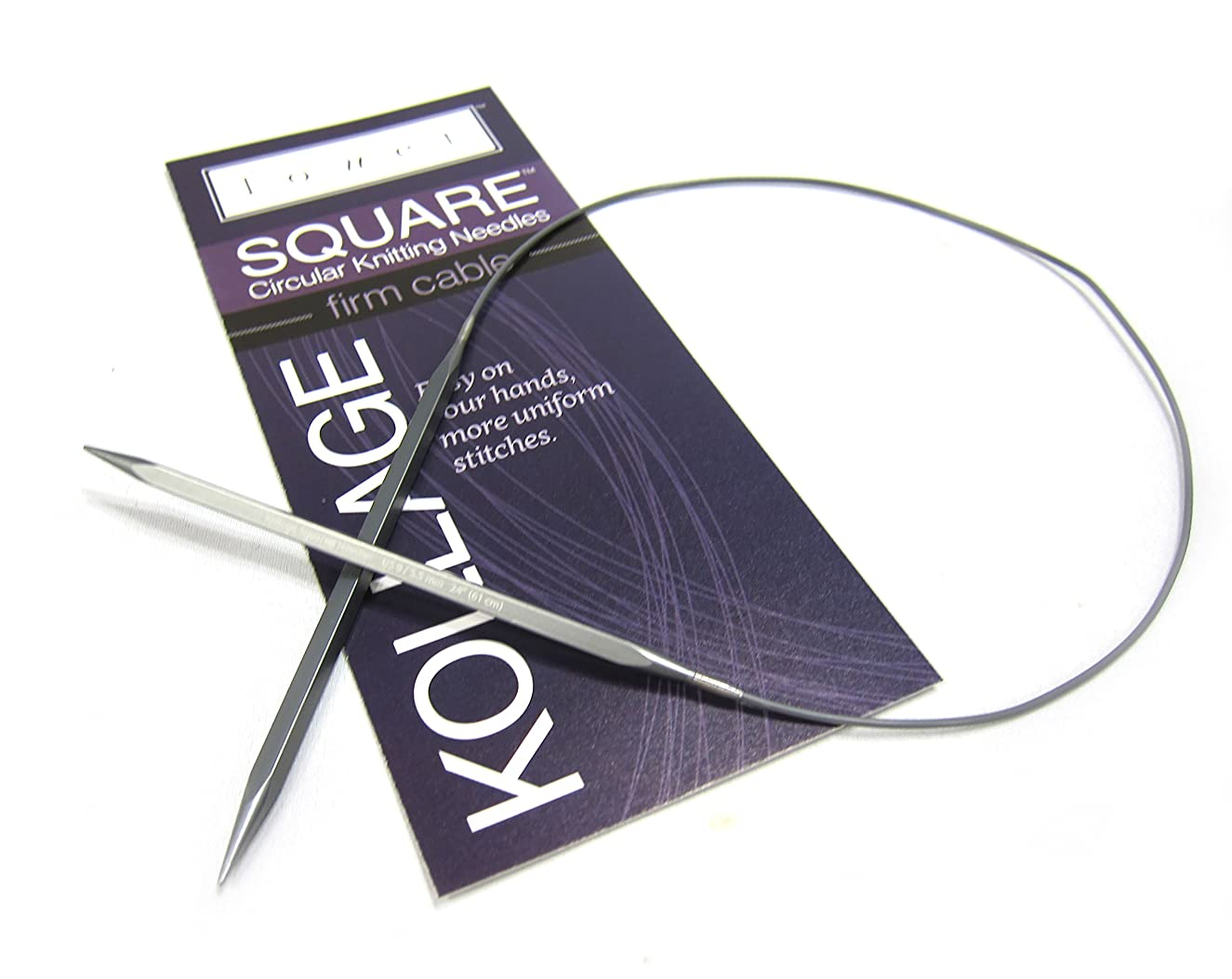 Kollage Square Circular 16-inch (41cm) Knitting Needle Firm Cable; Size US 2.5 (3.0mm)