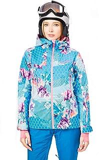 Stayer isolerad termojacka dam sport skidjacka vinterjacka vattentät frierid svart vit blommor färgglada mönster