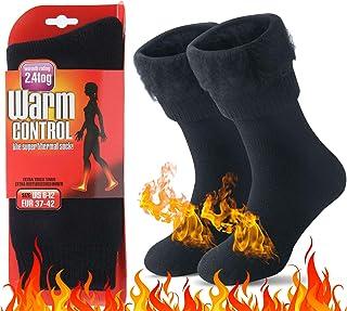comprar comparacion JARSEEN Térmicos de Invierno Calcetines de Lana Super Calor Gruesa Calentar Suave Cómodo Calcetines de Mujer Hombre