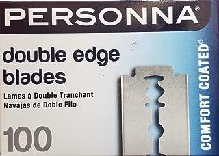 Personna Double Edge Razor Blades in White Wrapper 100 count