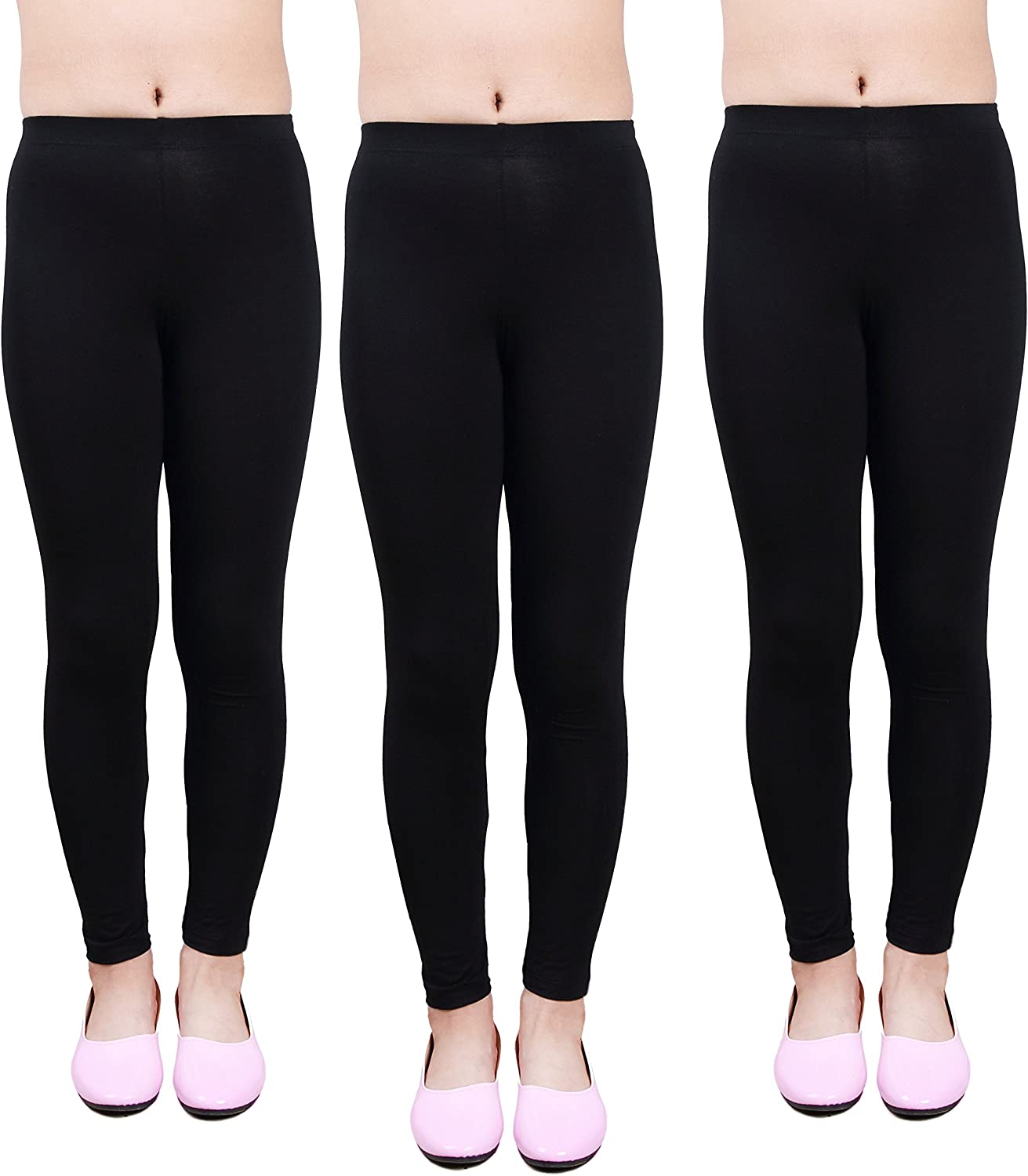 IRELIA Girls Leggings 3 Pack Modal Solid Size 4-16 Spring/Fall: Clothing