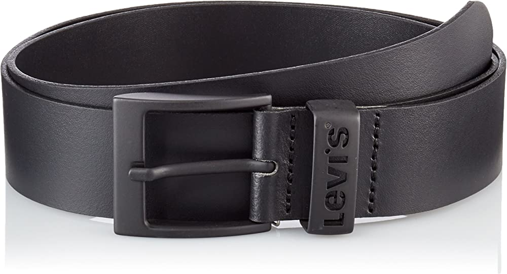 Levi`s ashland metal, cintura per uomo,in pelle al 100% 226939-3