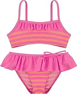 YONKINY 3 Piezas Ni/ña Bikini Conjunto Linda Color S/ólido Ba/ñador de Dos Piezas Verano Playa Beb/és Traje de Ba/ño De Falda Tul con el Casquillo Swimsuit Beachwear