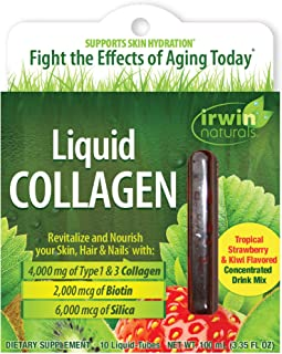 Irwin Naturals Liquid Collagen 4,000mg Hydrolyzed Type 1 & 3 Anti-Aging Support - Healthy Skin, Hair & Nails with Antioxid...
