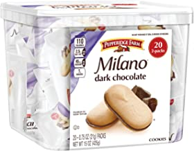 Pepperidge Farm, Milano, Cookies, Dark Chocolate, 15 oz., Multi-pack, Tub, 20-count