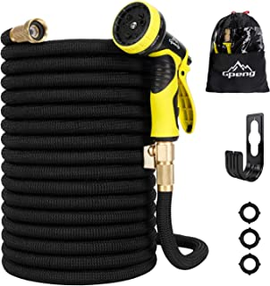 100ft Water Garden Hose Expandable & Flexible,Leakproof Lightweight Pocket Hoses, 9 Function Spray Nozzle with Durable 3-Layers Latex for Gardening and Watering