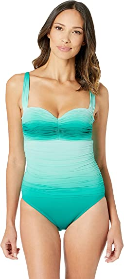 Shirred Bandeau Mio with Underwire and Molded Cup