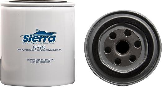 New Sierra 18-7945C Fuel Water Separator Filter Chrome 4 Pack