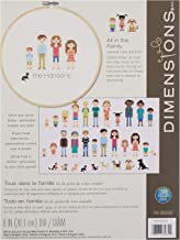 "Dimensions Customized Counted Cross Stitch Family Portrait Kit, 8"" Diameter"