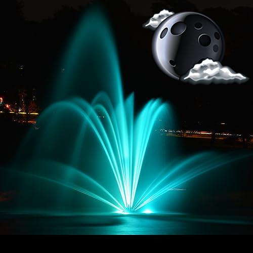 Nacht Brunnen Uhr Widget