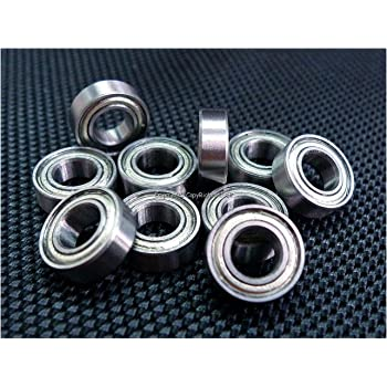 L-1040 ZZ Ochoos 10 PCS MR104ZZ MR104 ZZ 4X10X4 mm Miniature Bearing Deep Groove Ball Bearings MR104-2Z MR104 Length: ABEC1