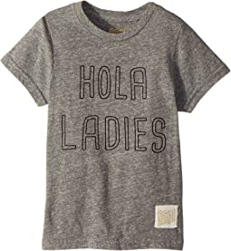 The Original Retro Brand Kids - Hola Ladies Short Sleeve Tri-Blend T-Shirt (Little Kids/Big Kids)