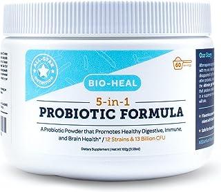 5-in-1 Bio-Heal® Probiotic for Kids, Men & Women (Powder) - Best Supplement for Brain Function, Gut Health & Constipation...