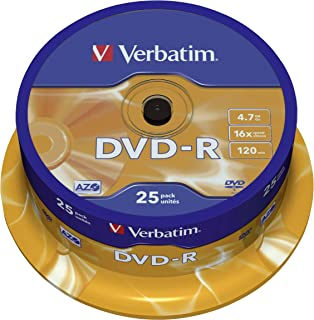 comprar comparacion Verbatim DVD-R 4,7 GB / 120 Min / 16X Tarrina (25 Discos) Datalifeplus, Superficie Resistente A Los Arañazos