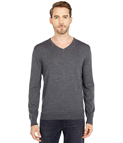 J.Crew Xinao Merino V-Neck (Heather Gravel) Men