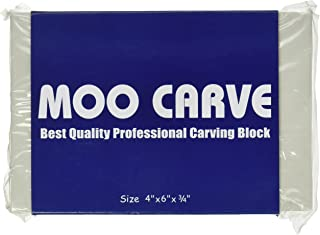 MOO Carve Block 4 by 6 by 0-3/4-Inch, Stamp Carving and Printmaking by MOO