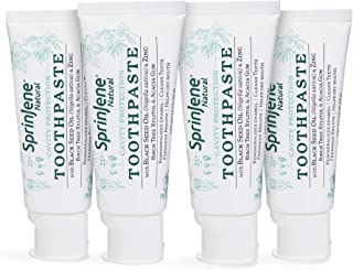 Natural 4-Pack Toothpaste with Fluoride for Cavity Protection, SLS-Free Natural Toothpaste with Zero Sugar, Vegan, Gluten-...