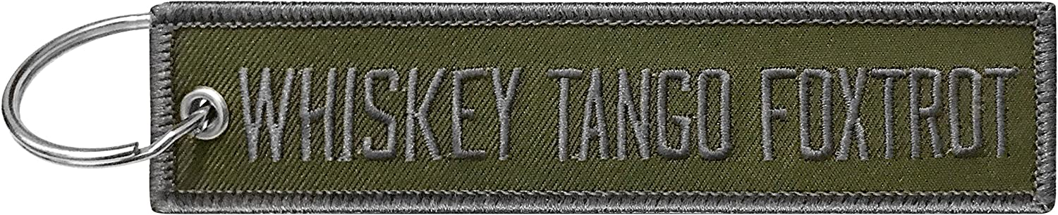 Military Whiskey Sales Tango Foxtrot Keychain Tag f with Ring EDC Over item handling Key