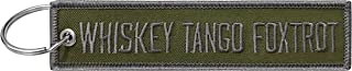 Military Whiskey Tango Foxtrot Keychain Tag with Key Ring, EDC for Servicemen, Car, Motorcycle