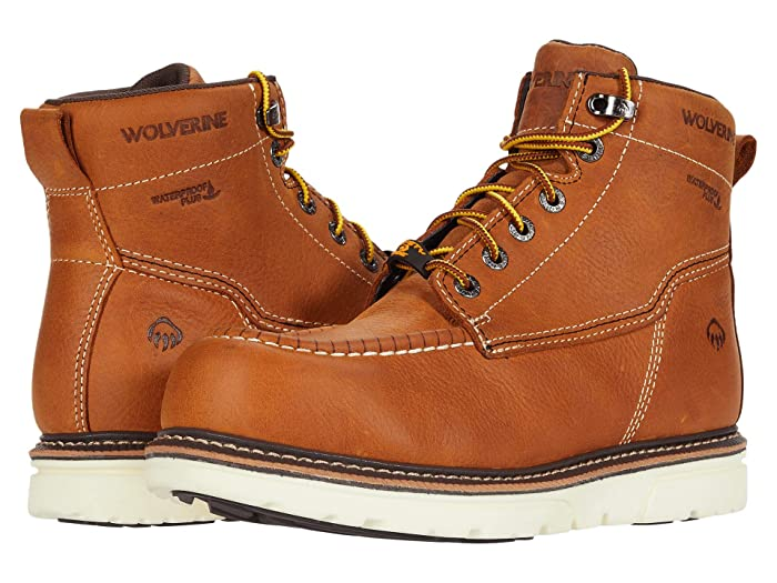 Wolverine  I-90 DuraShocks Moc-Toe CarbonMAX 6 Work Boot (Tan) Mens Work Lace-up Boots