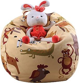 ROBOX Stuffed Animal Toy Storage Bag Organizer Large Bean Bag Chair Cover,Kids Toy Storage Organizer for Soft Toys Plush T...