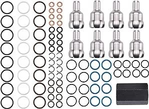 Ford 6.0L Powerstroke Oil Rail Leak Repair Kit,Tool,O-rings,+ Injector Seal Kits(8Pcs)