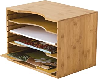 Lipper International 811 Bamboo Wood File Organizer with 4 Dividers, 12 3/4